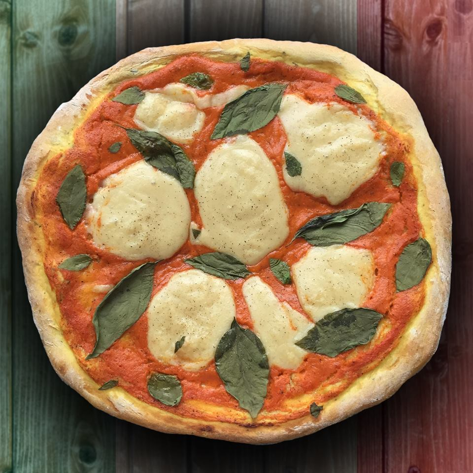 The Tastiest Vegan Mozzarella & Basil Pizza EVER!