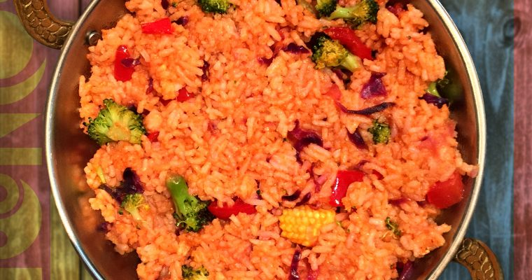 Mongolian Vegan Vegetable Fried Rice